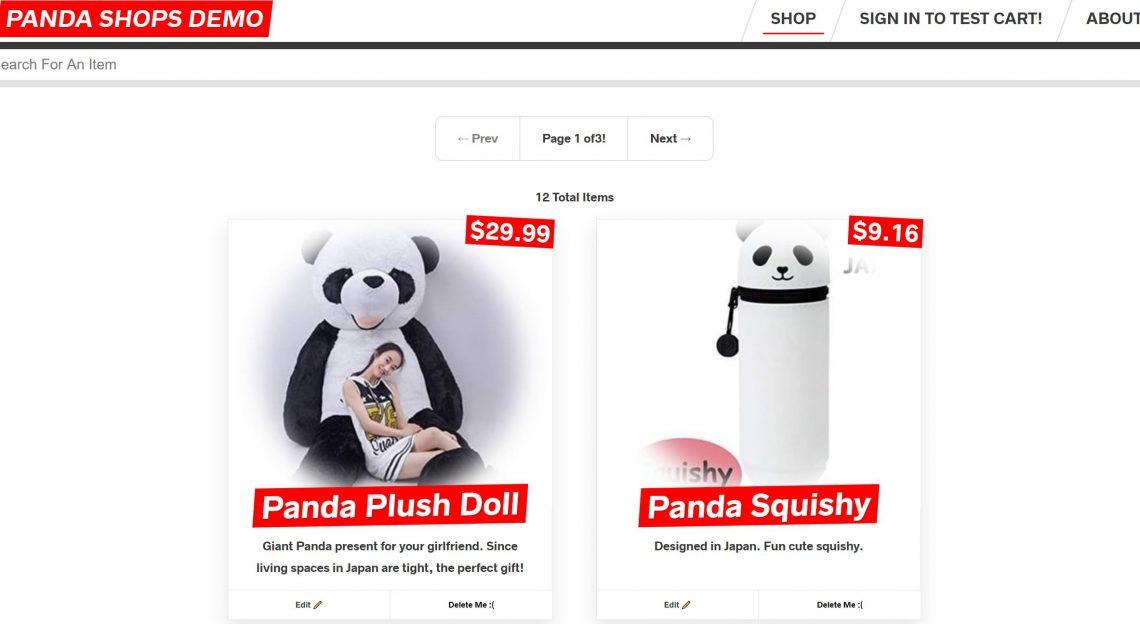Panda Shopping Demo