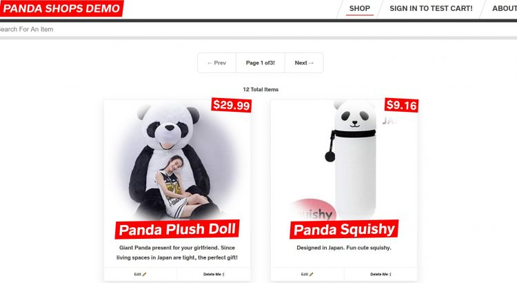 Panda Shopping Demo